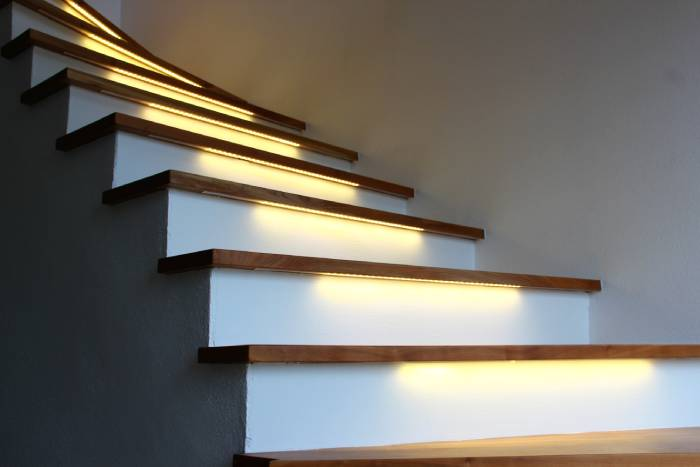 strisce led sulle scale